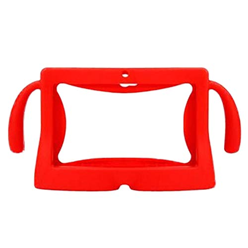 Vococal Universal 7 Inch Tablet Protective Case Soft Silicone Cover Skin Shell Protector with Carry Handles for Children Kids Q88 Y88 A13 Android Tablet Red
