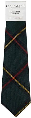 I Luv Ltd Gents Neck Tie Marr Green Modern Tartan Lightweight Scottish Clan Tie