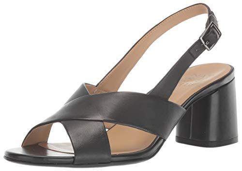 Naturalizer Women's Azalea Heeled Sandal, Black Leather, 7.5 M (B)
