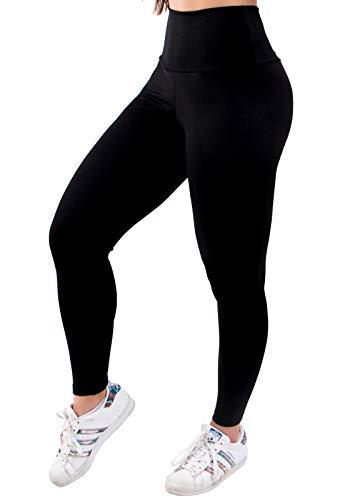 Legging 4 Estações Suplex Básica Fitness Academia (Preto, G)