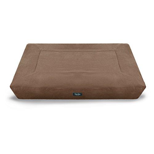 "Martha Stewart Brushed Canvas Mattress Pet Bed, 30""x40"", Brown"