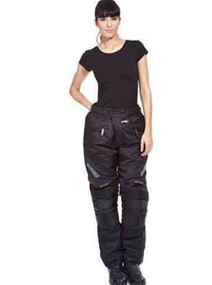 Zerimar Pantalones Moto Mujer | Pantalones Cordura Moto Mujer | Pantalones Moto Mujer Protecciones | Pantalon Cordura Mujer (Negro, XXL)