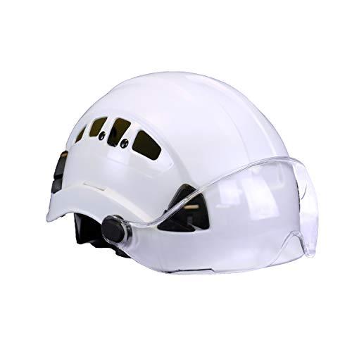 Malta Dynamics Safety Helmet (Helmet with Clear Anti-Scratch Visor) - White