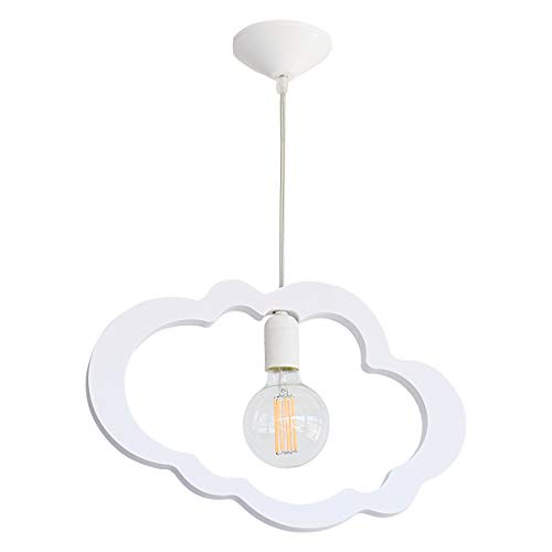 Lámpara colgante infantil con silueta de nube de Bainba