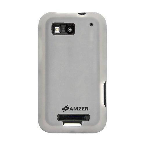 Amzer Silikon-Schutzhülle für Motorola DEFY MB525 transparent, Weiß