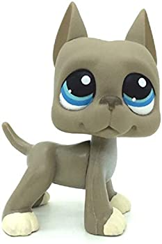 LPS Toy lps Great Dane Dog Action Figures Kids Toy Gift,Cute Cartoon Pets Cats Blue Eyes Dane Toy Mini Pet Shop Toys