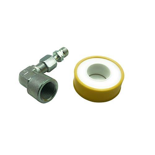 Herdanschluss-Adapter-Set, Variante:IG Winkel 1/2\'\' Rechts x AG 1/4\'\' Links