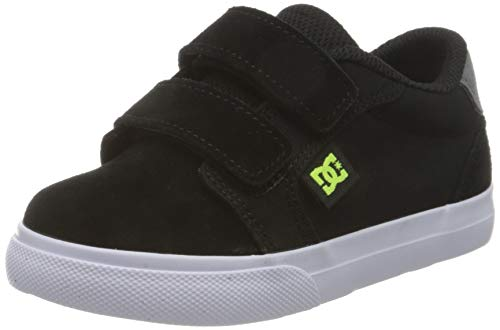 DC Shoes Anvil, Zapatillas para Niños, Black/Grey/Yellow, 20.5 EU