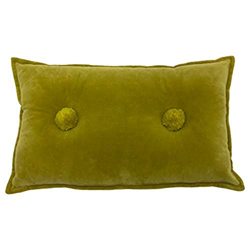 Furn Bobble Precargada Cushion-Cotton-Ocre Amarillo-30Cm X 50Cm (12' X 20' Pulgadas), algodón, 30x50cm