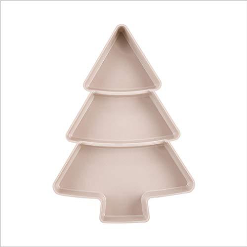 dedepeng Juego de platos creativos con forma de árbol de Navidad, platos para aperitivos, frutos secos, cuenco para dulces, accesorios de cocina, soporte para platos