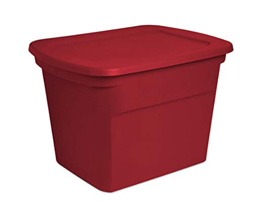 Wisechoice Durable 18 Gallon Holiday Storage Tote with Snap on Lid Type | Made in USA - Style May Vary