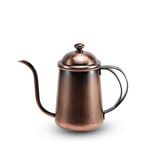 Koffiepot JXLBB 304 Roestvrij Staal Handwas Pot Lange Mond Dunne Mond Ketel Druppel Koffie Brouwen Pot Koffie Gebruiksvoorwerpen Brons Factory Direct 650ml