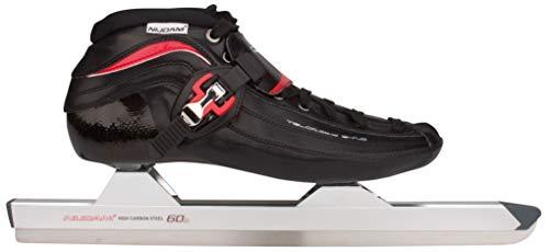 Nijdam Schlittschuhe Eisschnelllauf Karbon niedriges Modell (EU 43  schwarz rot)