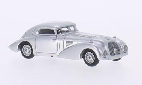Mercedes 540 K Stromlinienwagen, Silber, 1938, Modellauto, Fertigmodell, BoS-Models 1:87