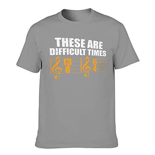 Camiseta ligera para hombre con diseño gráfico con texto en alemán 'Das sind difíciles' Gris oscuro. M