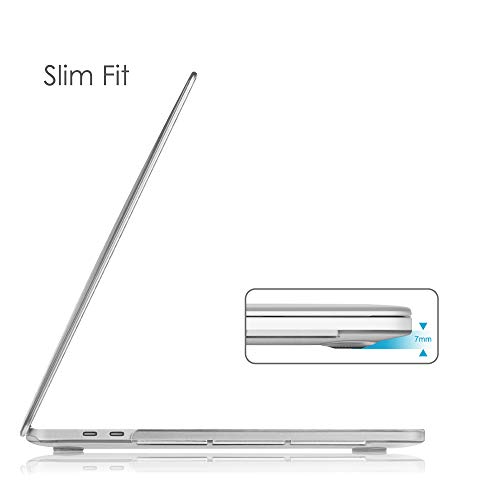 Fintie Schutzhülle für MacBook Pro 13 A2238 (M1) / A2251 / A2289 (2020 Release) - Snap On Hard Shell Cover für MacBook Pro 13 Zoll mit Touch Bar und Touch ID Crystal Clear