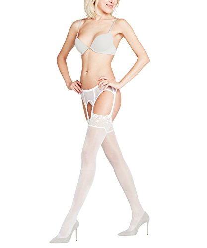 FALKE Damen Strümpfe Seidenglatt, Transparente, Leicht Glänzend, 1 Stück, Weiß (Off-White 2059), Größe: 8.5-9