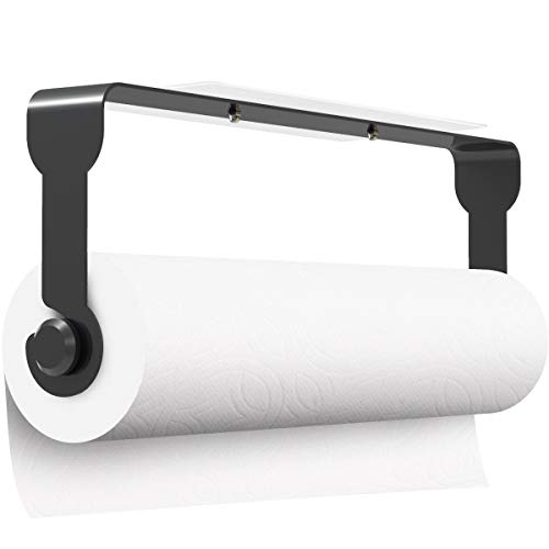 Küchenrollenhalter Ohne Bohren Wandmontage Küchenrollenhalter Schwarz Wand, Wandrollenhalter Papierrollenhalter für Küchentücher Küchenrollen, Toilettenpapierhalter Handtuchhalter Selbstklebend Bad