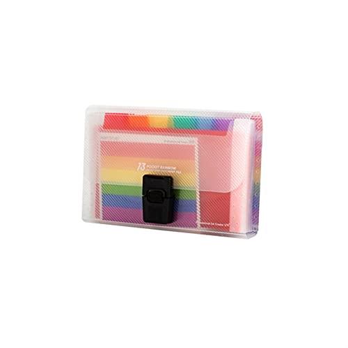 A6 13 Cells Portable File Folder Extension Wallet Bill Receipt File Organizer,Water Proof File Storage Folder (Color : S1)