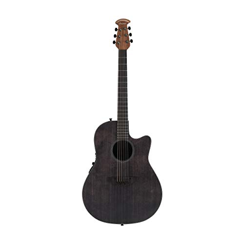 Ovation Main Stage Balladeer Acoustic Electric Guitar With Gig Bag, Ebony Stain