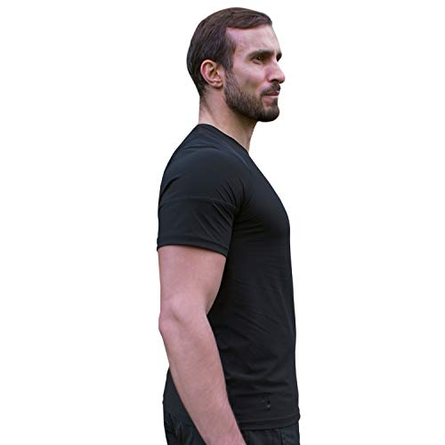 Swedish Posture® Reminder T-Shirt bessere Körperhaltung | weniger Rücken- & Schulterschmerzen | hochwertig & bequem | zur Physiotherapie, gegen Arthrose & Impingement (XL)
