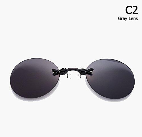 Aprigy Fashion The Matrix Morpheus Style Roumd - Gafas de Sol sin Borde para Hombre