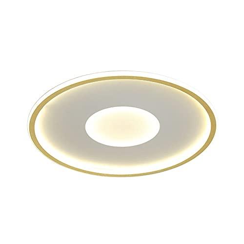 SDFDSSR Lámpara de Techo Circular geométrica Tri-Tone Light Lámparas de Techo de Montaje Empotrado ultrafinas Lámpara LED Plana para Dormitorio Lámpara LED de Montaje en Superficie Dorada