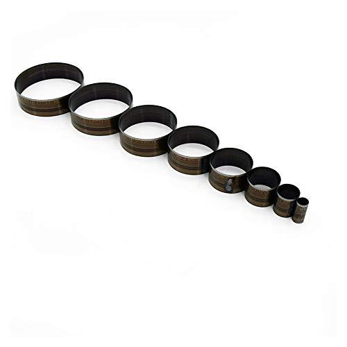 Jubaren7 15-65mm Japan Steel Lama a Forma di Cerchio in Pelle Cutter mestiere di DIY Piccolo Rotondo Campana Die Lama di Taglio a Mano punzone Mold Singolo Foro punzone (Size : 15mm)