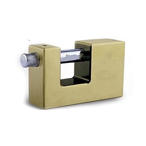 Candado de bloqueo de seguridad, Candillas de grado Candier Safe Anti-Robo Lock Antiguo Bronce Top Cerraduras de Seguridad para Hardware para el hogar para almacén, garaje, cobertizos,