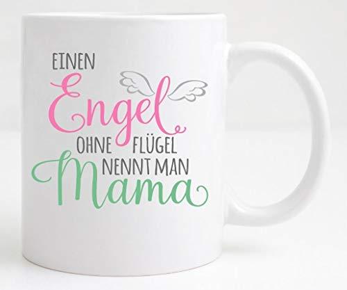 Tasse ♥Einen Engel ohne Flügel nennt man Mama♥ Weihnachtsgeschenk
