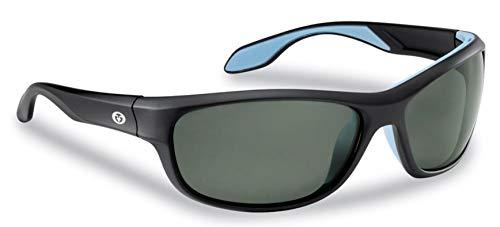 Flying Fisherman Cayo Polarized Sunglasses with AcuTint UV Blocker for Fishing and Outdoor Sports, Matte Black Frames/Smoke Lenses, Medium