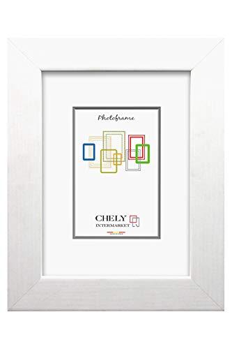 Chely Intermarket, Marco de Madera 50x60cm MOD-204 (Blanco)   Estilo Vintage   Marco de Fotos para decoración de casa   Fotografías de Boda   Fotos de Paisajes   Listado de Precio (204-50x60-1,40)