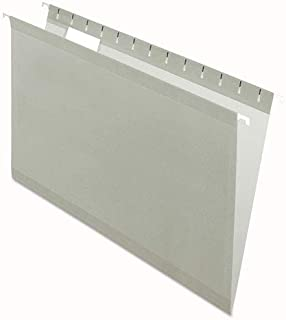 Reinforced Hanging Folders, 1/5 Tab, Legal, Gray, 25/Box