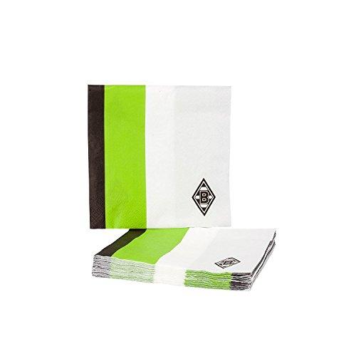 Borussia Mönchengladbach Servietten schwarz/weiß/grün