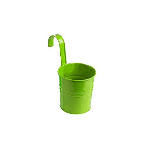Pot de Fleur Suspendu Métallique Décoration pour Maison Jardin Balcon - Vert