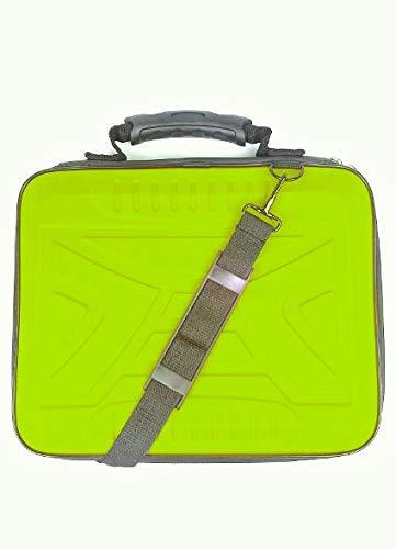 Zipy Funda para Ordenadores Portátiles Maletines para Tablets Laptop hasta 13,3 Pulgadas Rígida Protección Total. (Green Fluor Laptop)