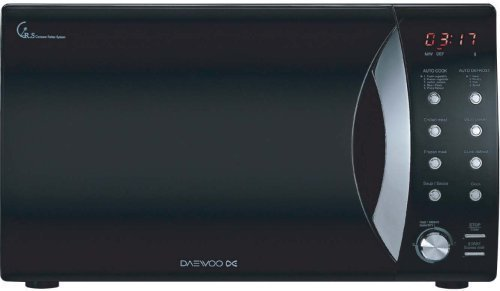 Daewoo KOR9A0R Mikrowelle, elektronisch, Mono-Mode, 23l, 800W, schwarz lackiert
