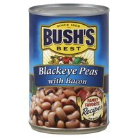 Bush's Blackeye Peas 15.5oz Cans (Pack of 6) (with Bacon)