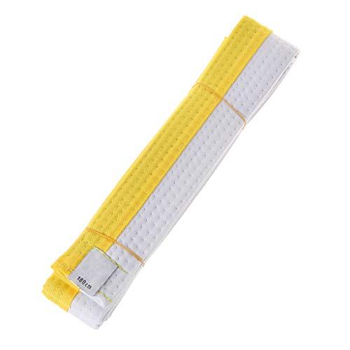 Kofun Taekwondo-Gürtel, professioneller Taekwondo-Gürtel, Karate, Judo, Doppelwickel, Kampfsportgürtel, 1,8 m / 2,8 m - 180 cm - Weiß/Gelb