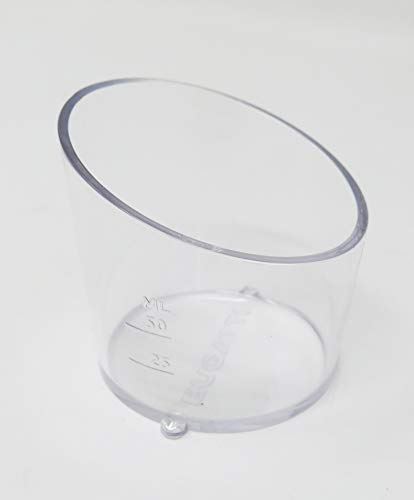 BUGATTI, Vera Evolution, Vaso dosificador de líquido para batidora electrónica, Recambio original, Dimensiones del producto 7x6,5x6 cm