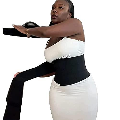 Invisible Wrap Waist Trainer Verstellbarer Bauchwickelgürtel, Bauchkontrolle, Abnehmender Taillentrainer Korsett Trimmer Body Shaper Gürtel für Frauen, 4M