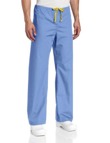 WonderWink The Papa Unisex Seamless Scrub Pant, Ceil Blue, Large