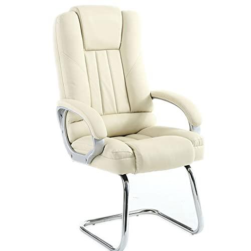 Fevilady Silla de escritorio, silla de ordenador, silla de hogar, cómoda, silla de asiento sedentario, silla de oficina, silla mahjong (color: blanco b)