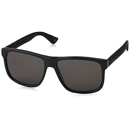 Fashion Shopping Gucci GG 0010 S- 001 BLACK/GREY Sunglasses, 58-16-145