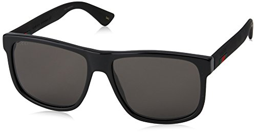 Fashion Shopping Gucci GG 0010 S- 001 BLACK/GREY Sunglasses, 58-16-145
