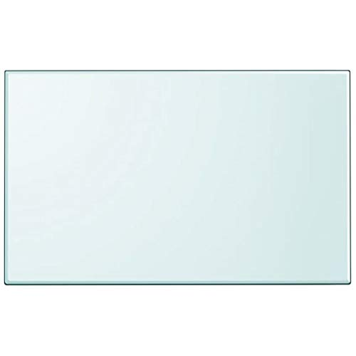 """Unfade Memory High Strength Tabletop Tempered Glass/Thickness 0.3""""/ Flat Polish Eased Edge (39.4""""x24.4"""", Rectangular)"""