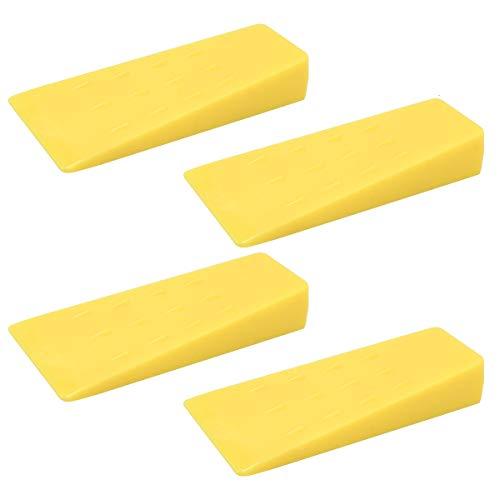 HNBun Fällkeile mit Stacheln, zum Baumschneiden, 14 cm, gelber Kunststoff, Fällkeil, Holzkeile, Baum-Fällkeile, Holzkeile, Loggwerkzeuge, Kettensägen-Zubehör