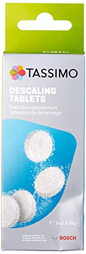 Bosch TCZ6004, Pastillas de Limpieza y Descalcificación para Cafeteras TASSIMO