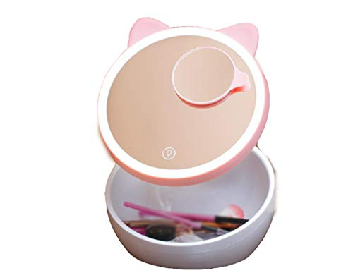 Miroir de Maquillage LED Bureau Pliant Bureau vanité Miroir Remplissage lumière Miroir de beauté