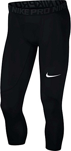 Nike Men's Pro 3qt Tight (Black/Anthracite/White, Small)